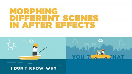 Morphing 2 different scenes in After Effects
